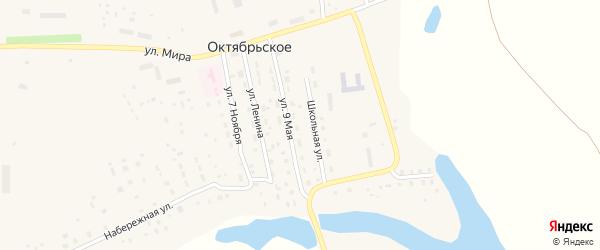 9 Мая улица на карте Октябрьского села с номерами домов