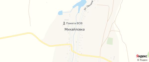 Улица Ленина на карте деревни Михайловки с номерами домов