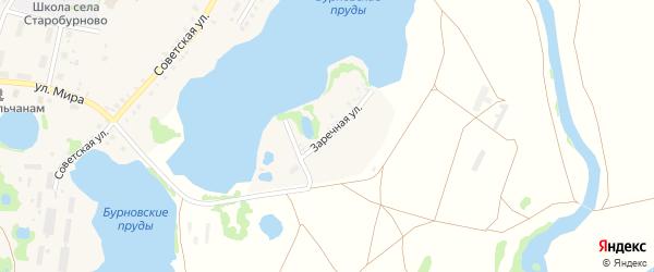 Заречная улица на карте села Старобурново с номерами домов