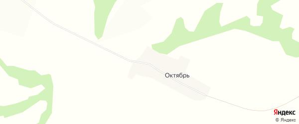 Карта деревни Октября в Башкортостане с улицами и номерами домов