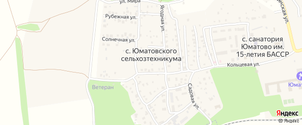 Улица Победы на карте села Юматовского сельхозтехникумы с номерами домов
