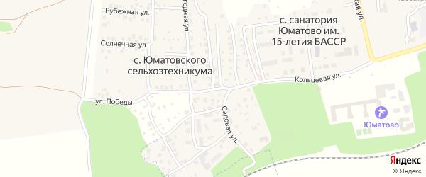 Садовая улица на карте села Юматовского сельхозтехникумы с номерами домов