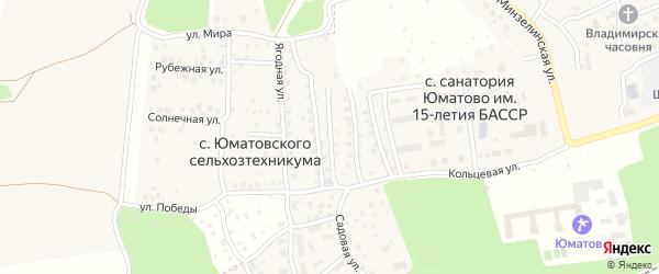 Садовый переулок на карте села Юматовского сельхозтехникумы с номерами домов
