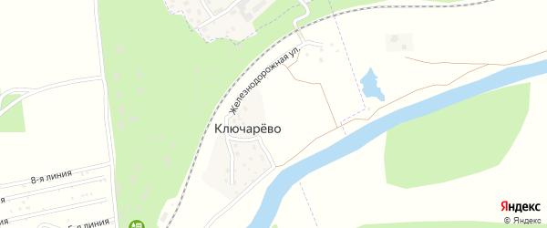 Железнодорожная улица на карте деревни Ключарева с номерами домов