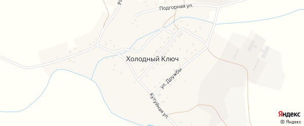 Улица Рината Рискулова на карте деревни Холодного ключа с номерами домов