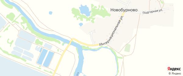 Речной переулок на карте деревни Новобурново с номерами домов