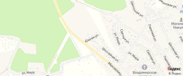Южная улица на карте деревни Юматово с номерами домов