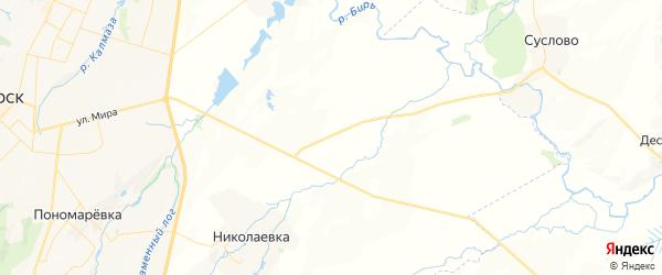 Карта Старопетровского сельсовета республики Башкортостан с районами, улицами и номерами домов