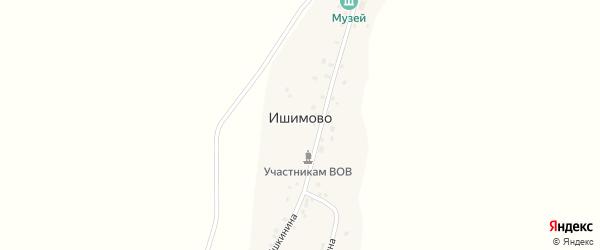 Улица Кармазина на карте деревни Ишимово с номерами домов