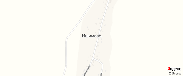Спортивная улица на карте деревни Ишимово с номерами домов