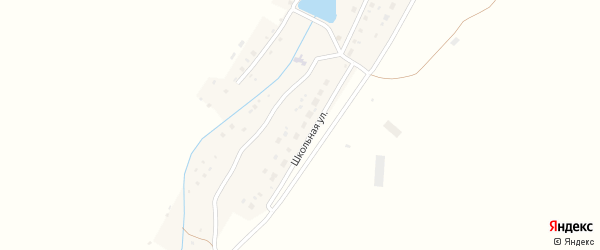 Школьная улица на карте Северной деревни с номерами домов