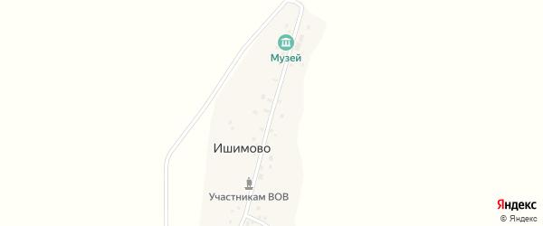 Улица Ишкинина на карте деревни Ишимово с номерами домов