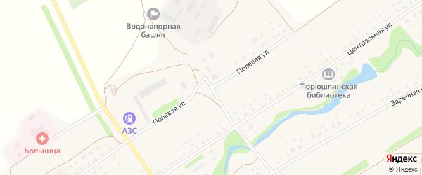 Полевая улица на карте села Тюрюшля с номерами домов