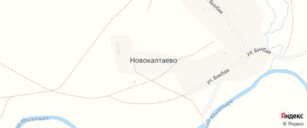Б.Бикбая улица на карте деревни Новокалтаево с номерами домов