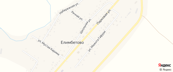 Парковая улица на карте села Елимбетово с номерами домов