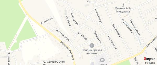 Улица Мира на карте деревни Юматово с номерами домов