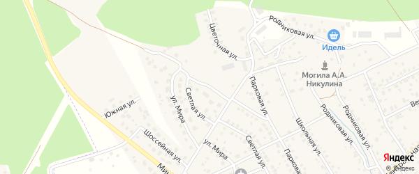 Высоковольтная улица на карте деревни Юматово с номерами домов
