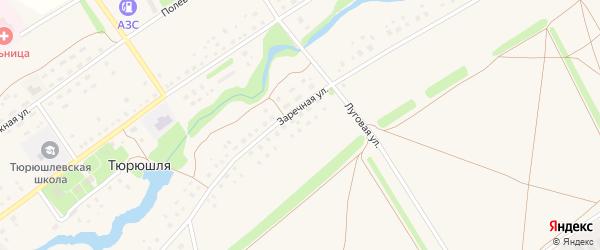 Заречная улица на карте села Тюрюшля с номерами домов