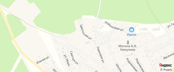 Цветочная улица на карте деревни Юматово с номерами домов