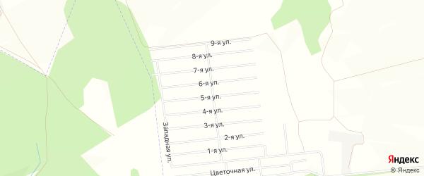 СНТ Весна на карте Уфимского района с номерами домов