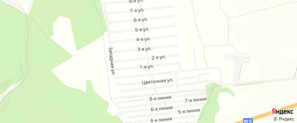 СНТ Рябинушка на карте Уфимского района с номерами домов