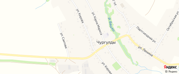 Улица Кирова на карте села Чургулды с номерами домов