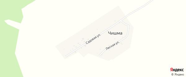 Садовая улица на карте деревни Чишмы с номерами домов