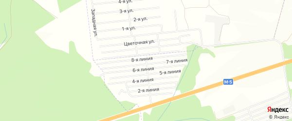 СНТ Отдых на карте Уфимского района с номерами домов