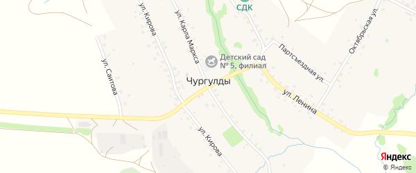 Октябрьская улица на карте села Чургулды с номерами домов