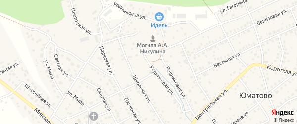 Родниковая улица на карте деревни Юматово с номерами домов