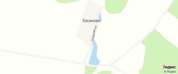 Озерная улица на карте деревни Хасаново с номерами домов