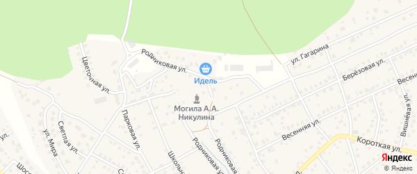 Родниковый переулок на карте деревни Юматово с номерами домов