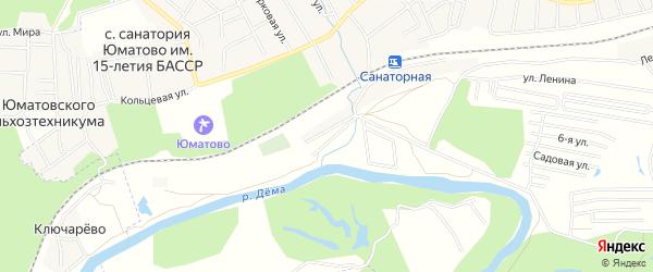 СНТ Локомотив на карте Уфимского района с номерами домов