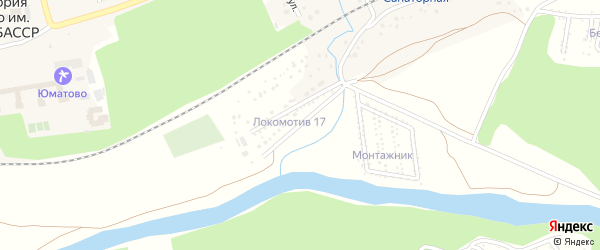 Железнодорожная улица на карте деревни Юматово с номерами домов