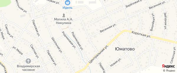 Центральный переулок на карте деревни Юматово с номерами домов