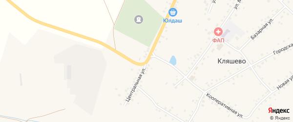 Центральная улица на карте села Кляшево с номерами домов