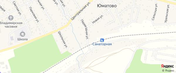 Переездная улица на карте деревни Юматово с номерами домов