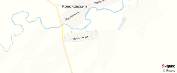 Карта деревни Кононовского в Башкортостане с улицами и номерами домов