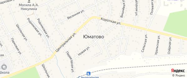 Радужная улица на карте деревни Юматово с номерами домов