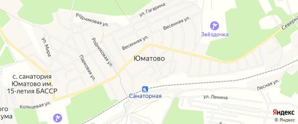 Карта деревни Юматово в Башкортостане с улицами и номерами домов