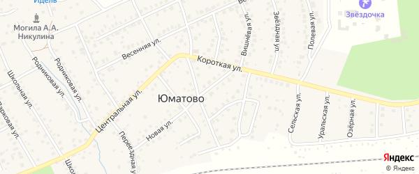 Новая улица на карте деревни Юматово с номерами домов