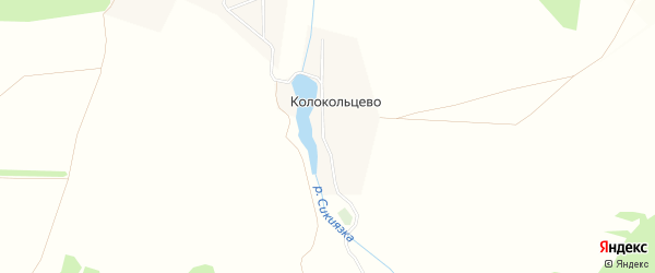 Карта деревни Колокольцево в Башкортостане с улицами и номерами домов