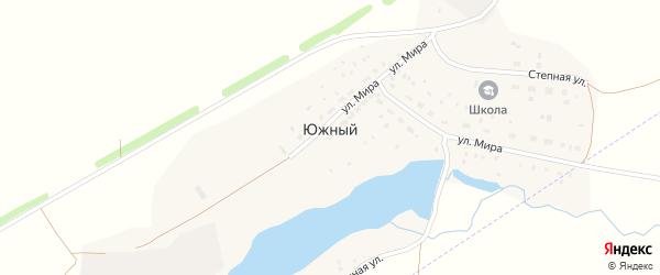 Заречная улица на карте деревни Южного с номерами домов
