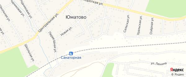 Молодежный переулок на карте деревни Юматово с номерами домов
