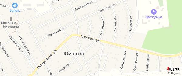 Короткая улица на карте деревни Юматово с номерами домов