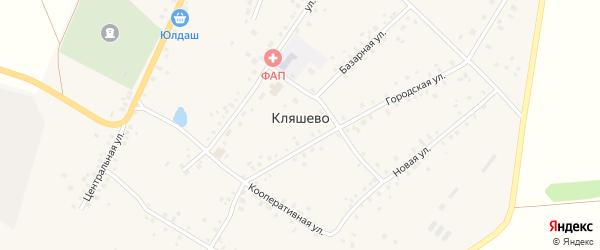 Солнечная улица на карте села Кляшево с номерами домов
