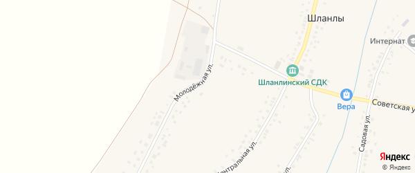 Молодежная улица на карте села Шланлы с номерами домов