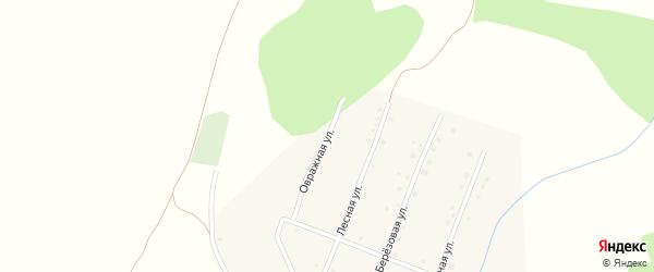 Овражная улица на карте села Гуровки с номерами домов