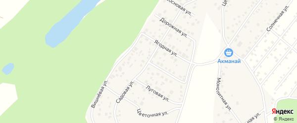 Садовая улица на карте деревни Демы с номерами домов