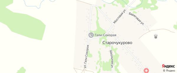 Улица Г.Сокороя на карте села Старочукурово с номерами домов